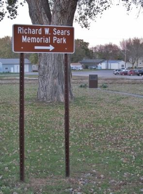 Richard W. Sears Memorial Park Sign image. Click for full size.