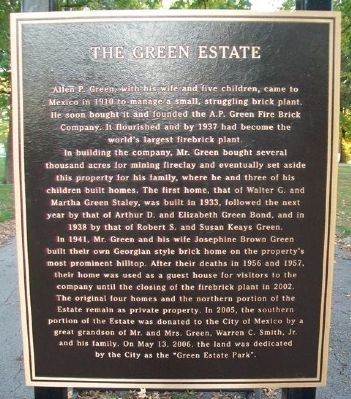 The Green Estate Marker image. Click for full size.