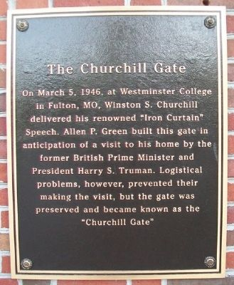 The Churchill Gate Marker image. Click for full size.
