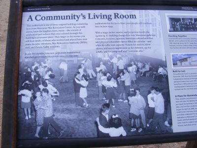 A Community's Living Room Marker image. Click for full size.