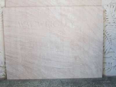 William Wrigley Jr. Marble Plaque Inside the Arches image. Click for full size.