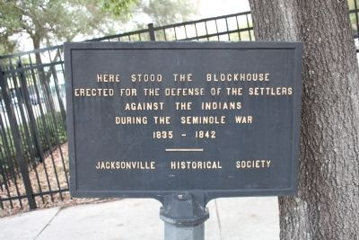 Seminole War Blockhouse Site Marker image. Click for full size.