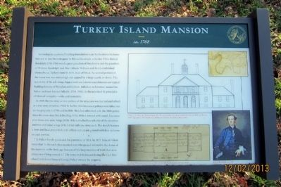 Turkey Island Mansion Marker image. Click for full size.
