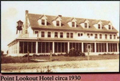 Point Lookout Hotel circa 1930 image. Click for full size.