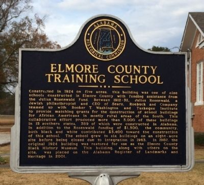 Elmore County Training School Marker image. Click for full size.