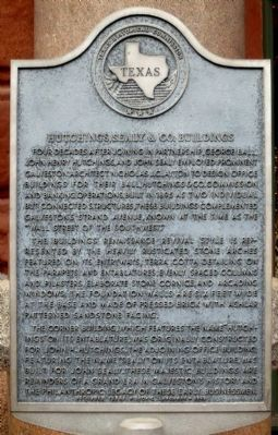 Hutchings, Sealy & Co. Buildings Marker image. Click for full size.