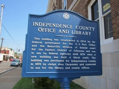Independence County Office and Library Marker image. Click for full size.