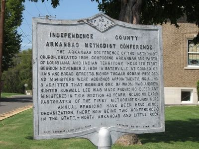 Arkansas Methodist Conference Marker image. Click for full size.