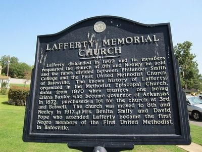 Lafferty Memorial Church Marker image. Click for full size.