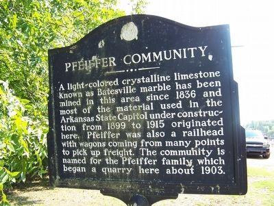 Pfeiffer Community Marker image. Click for full size.