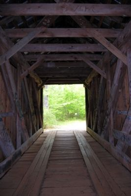 Interior of Bunker Hill Covered Bridge image. Click for full size.