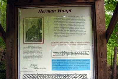 Herman Haupt Marker image. Click for full size.