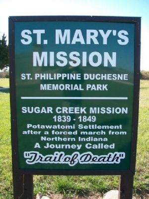 St. Mary's Mission Marker image. Click for full size.