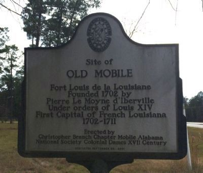 Site of Old Mobile Marker image. Click for full size.
