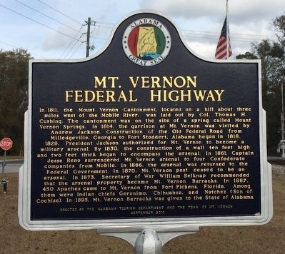 Mt. Vernon Federal Highway Marker image. Click for full size.