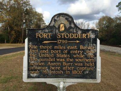 Fort Stoddert Marker image. Click for full size.