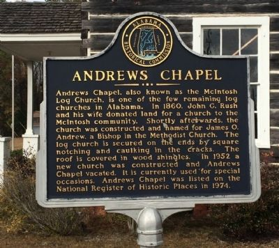 Andrews Chapel Marker image. Click for full size.
