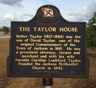 The Taylor House Marker (side 2) image. Click for full size.