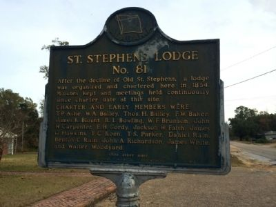 St. Stephens Lodge #81 Marker image. Click for full size.