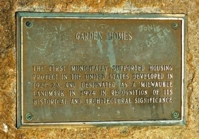 Garden Homes Marker image. Click for full size.
