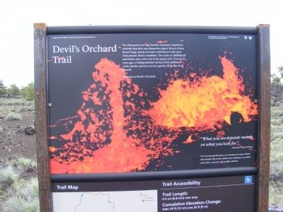 Devil's Orchard Trail Marker image. Click for full size.