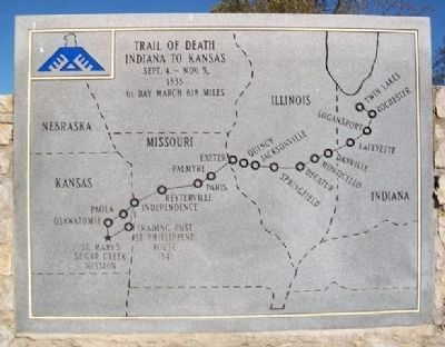 [Potawatomi] Trail of Death Monument image. Click for full size.