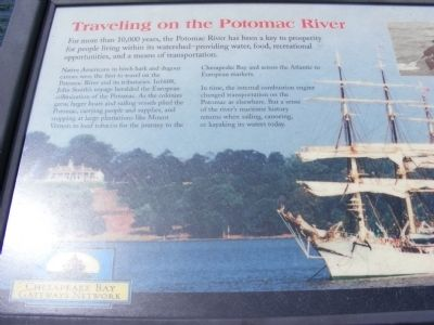 Traveling on the Potomac River Marker image. Click for full size.