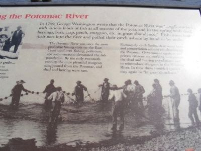 Fishing the Potomac River Marker image. Click for full size.