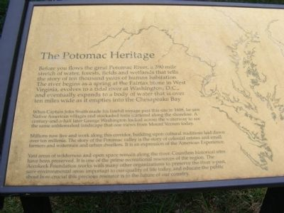 Potomac Heritage Marker image. Click for full size.