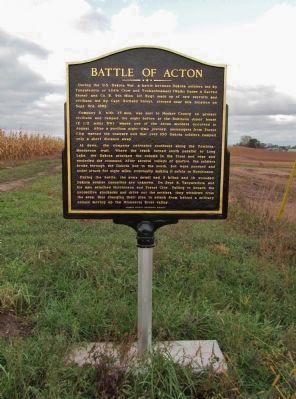 Battle of Acton Marker image. Click for full size.