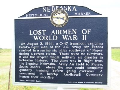 Lost Airmen of World War II Marker image. Click for full size.