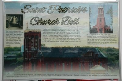 Saint Patrick's Church Bell Marker image. Click for full size.