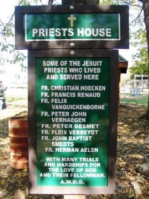 Priests House Marker image. Click for full size.
