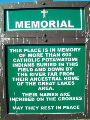Potawatomi Burial Ground Marker image. Click for full size.