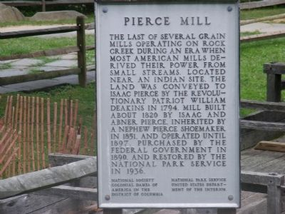Pierce Mill Marker image. Click for full size.