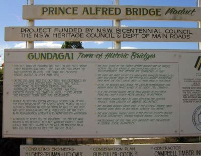Prince Alfred Bridge Viaduct Marker image. Click for full size.