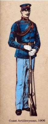 Coast Artilleryman, 1906 image. Click for full size.