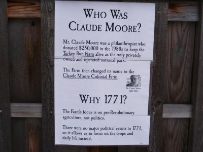 Who Was Claude Moore Marker image. Click for full size.