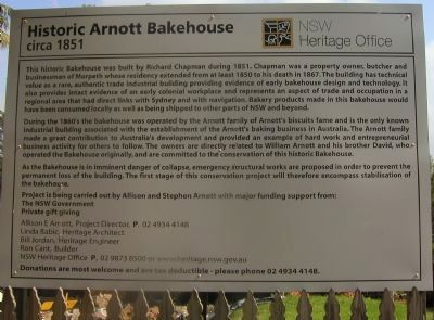 Historic Arnott Bakehouse Marker image. Click for full size.