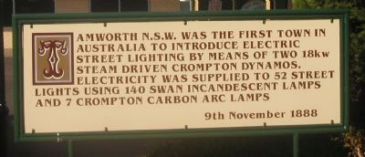 Electric Street Lighting Marker image. Click for full size.