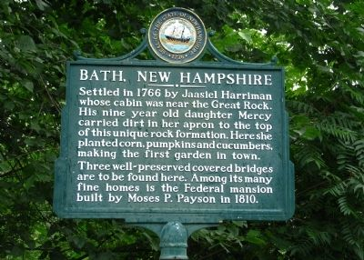 Bath, New Hampshire Marker image. Click for full size.