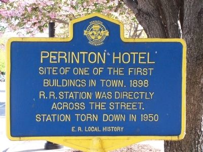 Perinton Hotel Marker image. Click for full size.