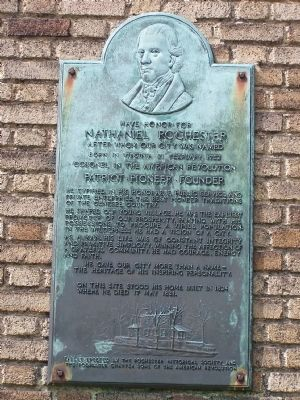 Have honor for Nathaniel Rochester Marker image. Click for full size.