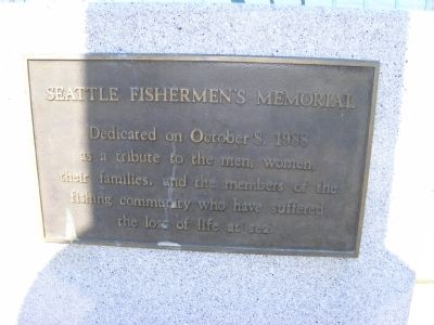 Seattle Fisherman's Memorial Marker image. Click for full size.