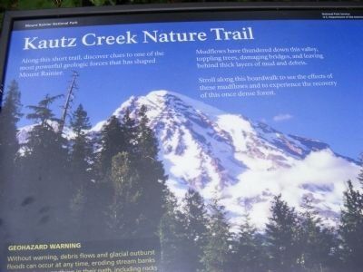 Kautz Creek Nature Trail Marker image. Click for full size.