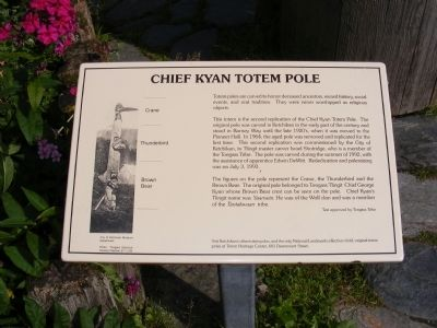 Chief Kyan Totem Pole Marker image. Click for full size.