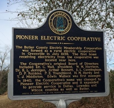 Pioneer Electric Cooperative Marker image. Click for full size.