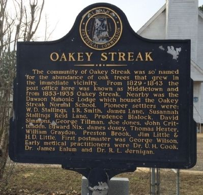 Oakey Streak Marker image. Click for full size.