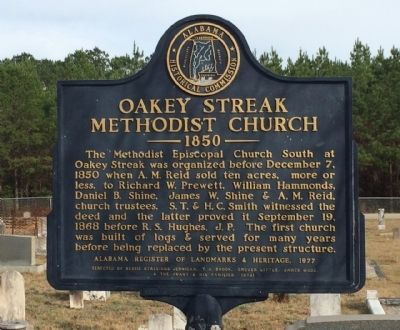 Oakey Streak Methodist Church Marker image. Click for full size.
