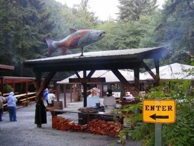 Gold Creek Salmon Bake Entrance image. Click for full size.